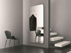 k195 hally, Specchio con portaoggetti ideale per l'ingresso di casa