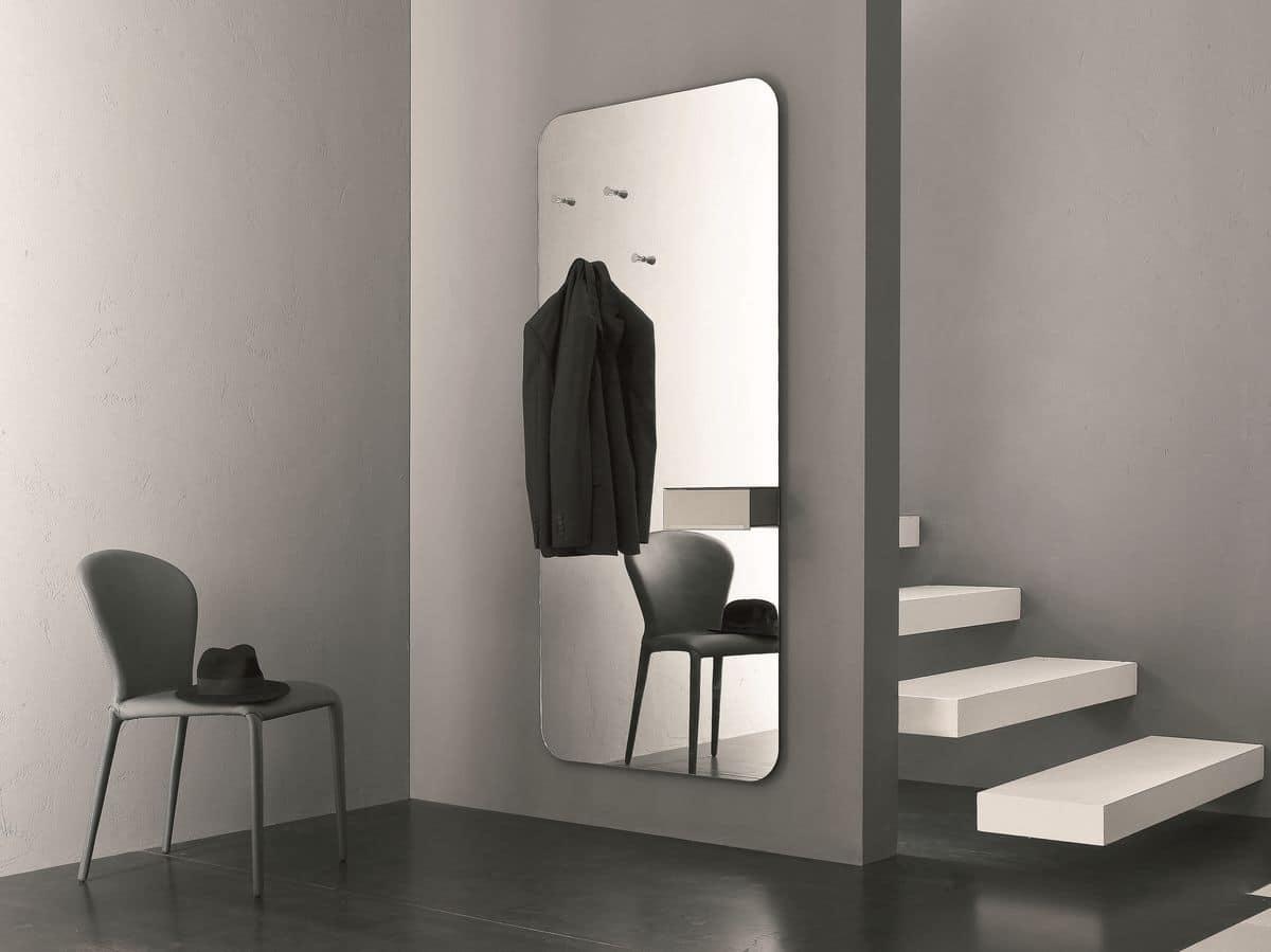 Specchio con portaoggetti ideale per l 39 ingresso di casa - Supporti per specchi a parete ...