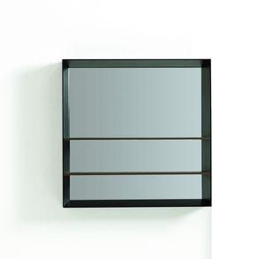 LIBE specchiera quadrata, Specchiera design quadrata, con mensole