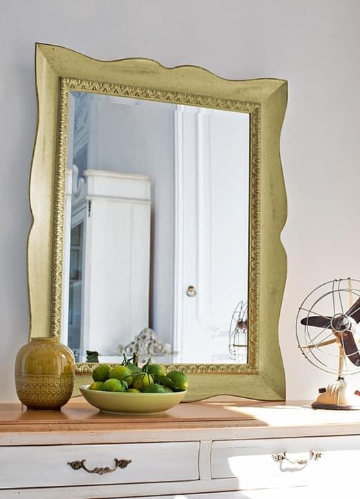 MARTE Art. 4955 4956 4957 4958, Specchio decorativo con cornice in legno laccato, classico