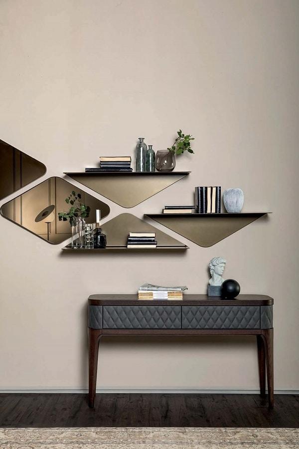 MATRIX specchio, Specchio con profilo perimetrale in metallo