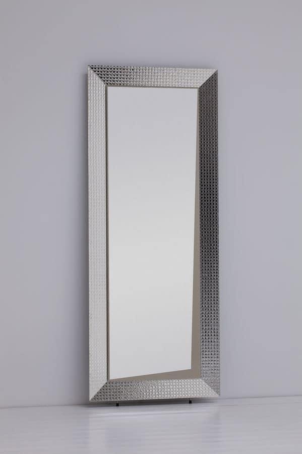 Specchio rettangolare moderno con cornice in alluminio for Cornice specchio