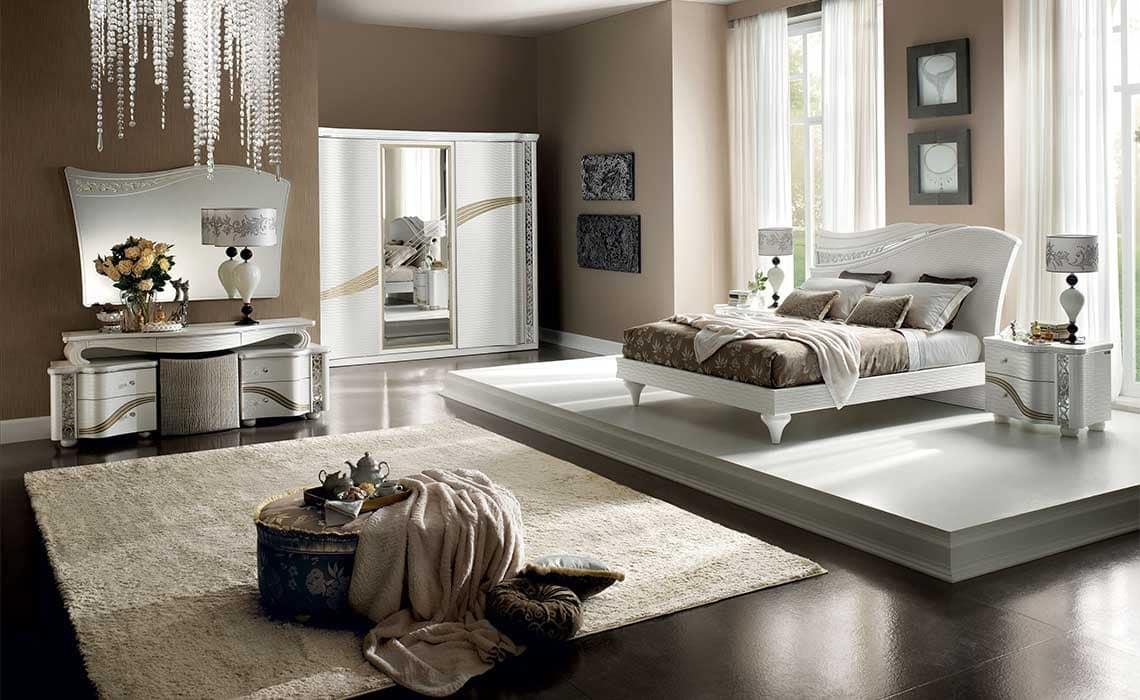Specchiera con design in stile classico contemporaneo idfdesign - Stanze da letto complete ...