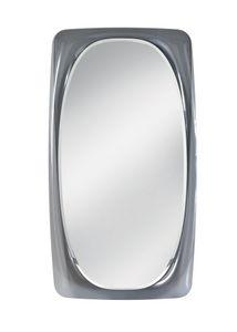 Orfeo specchio, Specchio con cornice in vetro