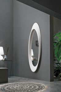 PLEASURE SS400, Specchiera ovale con cornice in poliuretano