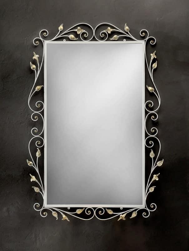 SP/310, Specchiera rettangolare con cornice in ferro battuto
