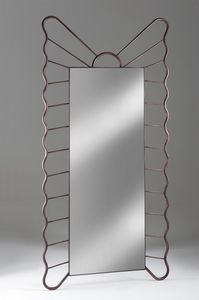 Specchiera Filicudi, Specchiera rettangolare con cornice in ferro forgiato