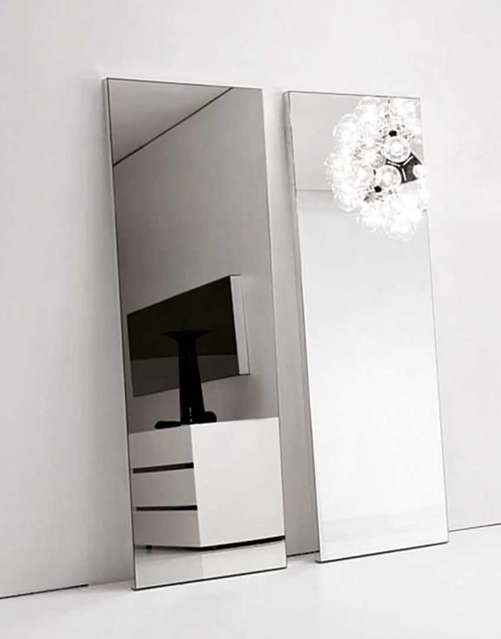 Specchi trapezoidali da parete con luce a led integrabile idfdesign