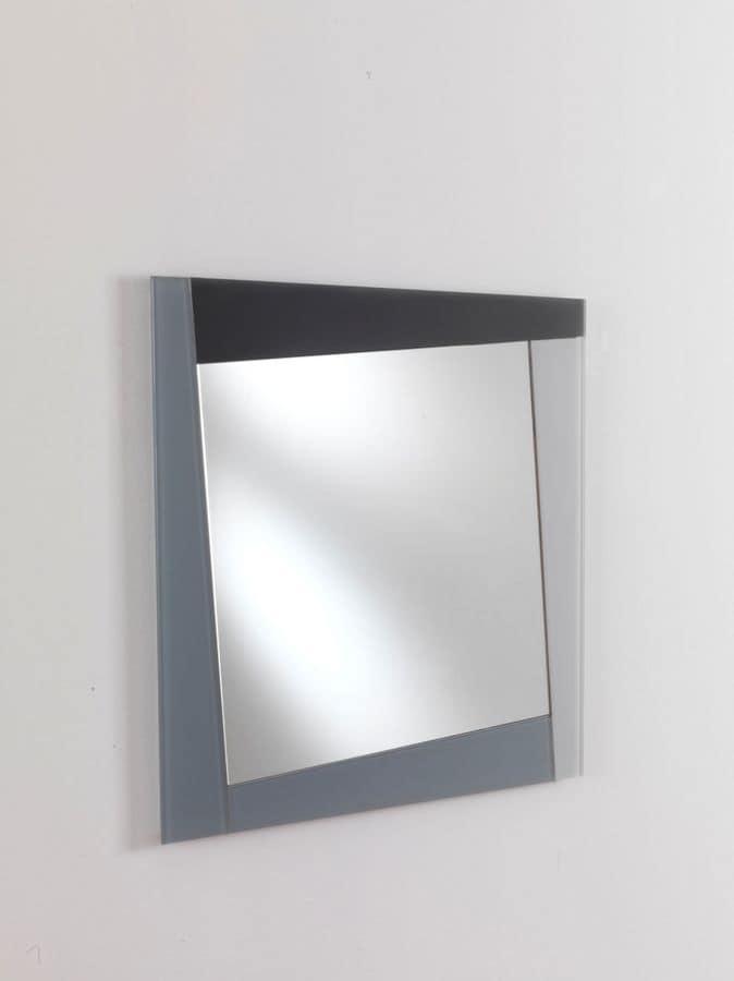 Specchio 6 specchio rettangolare con cornice adatto per for Specchi per ingrandire ambienti