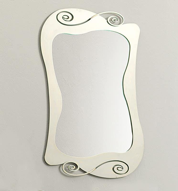 Specchio con cornice curvilinea in ferro idfdesign - Specchio con cornice ...