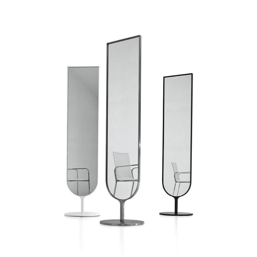 Temira, Specchio ovale moderno per camera da letto e buotique