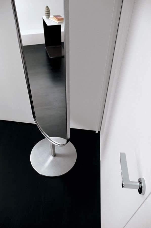 Specchio ovale moderno per camera da letto e buotique - Specchio ovale camera da letto ...