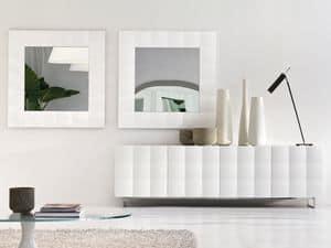 VENICE specchio, Specchio quadrato con cornice opaca