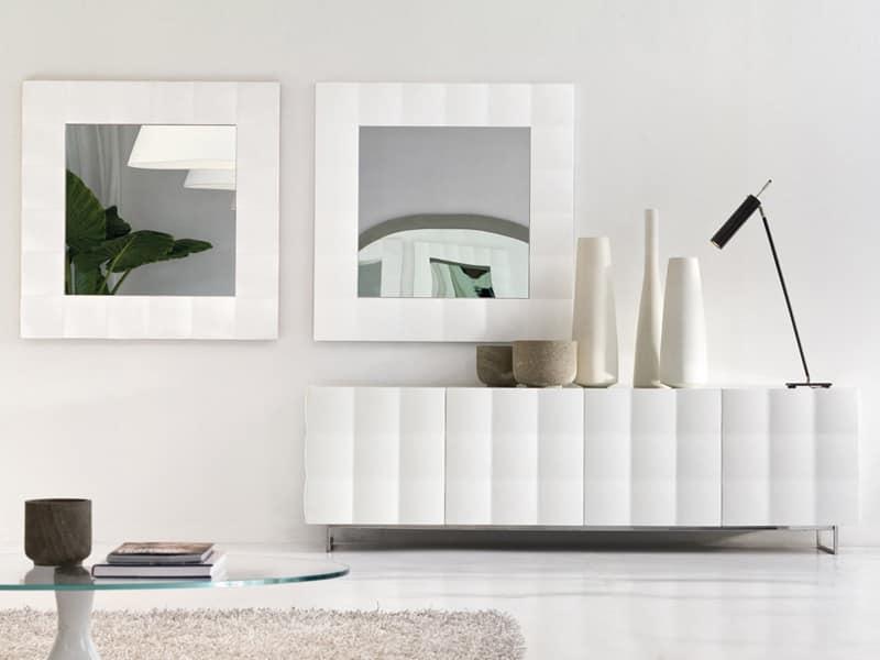 Specchio quadrato con cornice opaca  IDFdesign