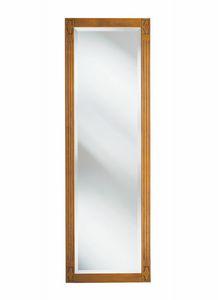 Villa Borghese pannello con specchio 9371, Specchio con cornice in legno