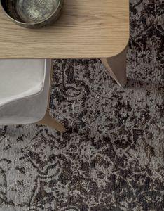 BOCCIONI, Filato industriale intarsiato vintage con frange