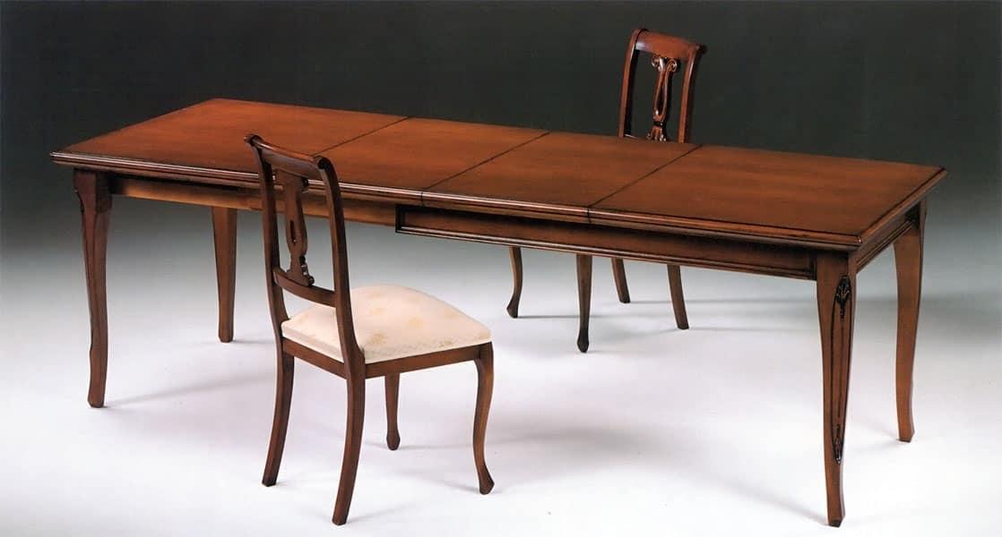 Tavoli tavoli allungabili moderni legno idf for Tavolo allungabile sala da pranzo