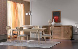 Amarcord Art. AM009, Tavolo in legno con piano allungabile