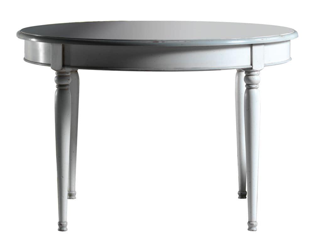 Tavolo rotondo con 2 allunghe idfdesign - Tavoli pranzo allungabili design ...