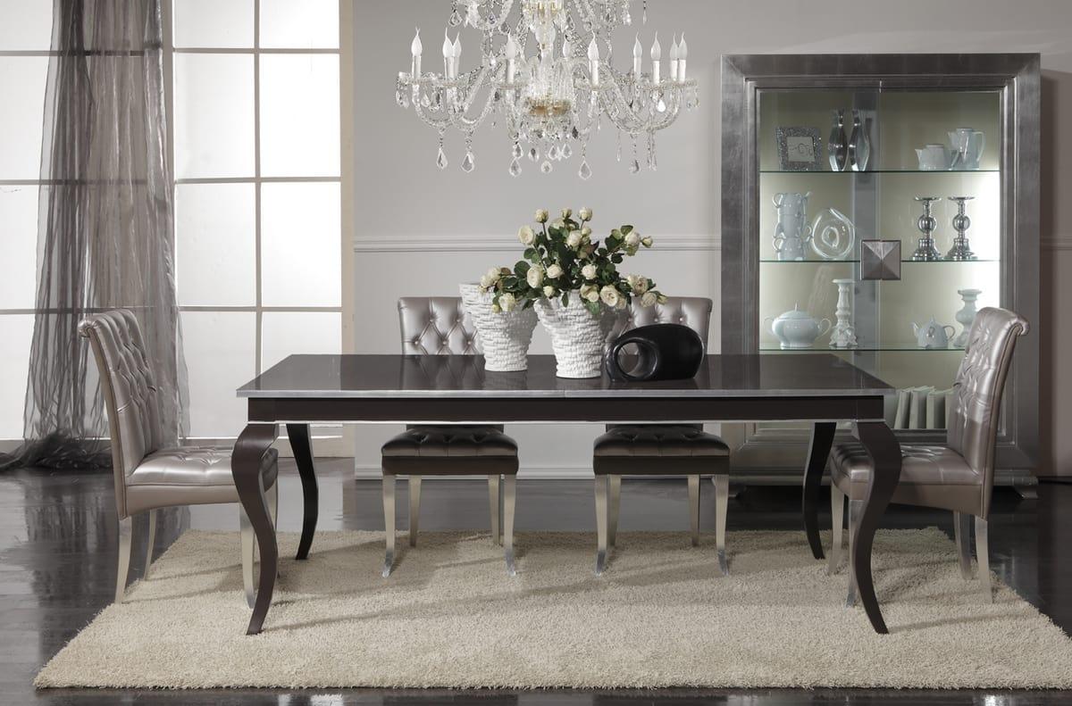 Elegante tavolo allungabile in legno idfdesign for Tavolo classico