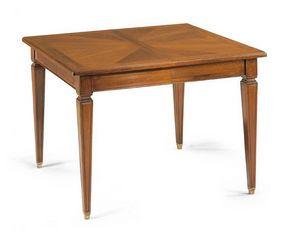 Art. 56, Tavolo con piano quadrato allungabile