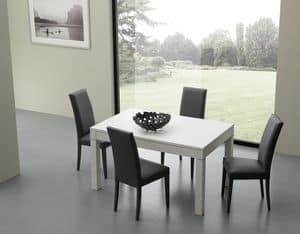 Art. 617 Bi-dimensional, Tavolo allungabile e allargabile, per cucine