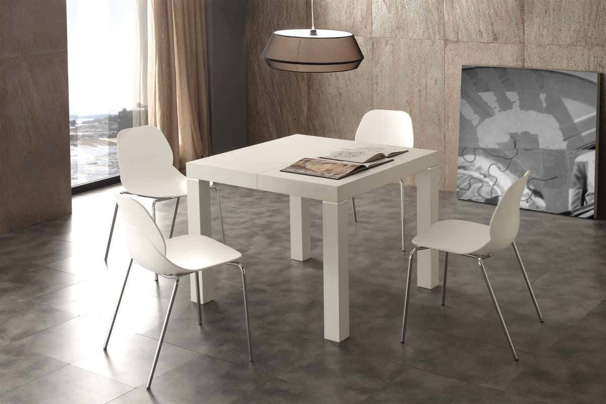 tavolo allungabile con varie allunghe in legno idfdesign