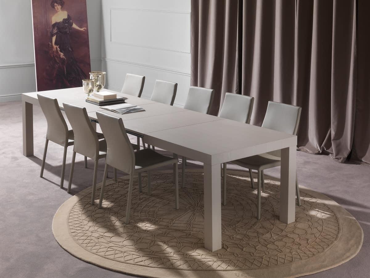 Tavolo da pranzo allungabile fino a 12 posti idfdesign for Tavoli in legno allungabili