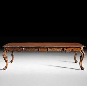 Art. 813 tavolo, Tavolo allungabile, con gambe intagliate, tardo barocco