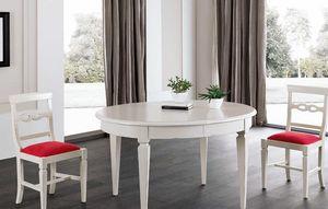 Art. 93, Tavolo ovale in legno laccato bianco