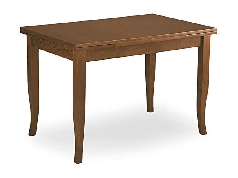 tavolo allungabile gambe a sciabola per ristorante