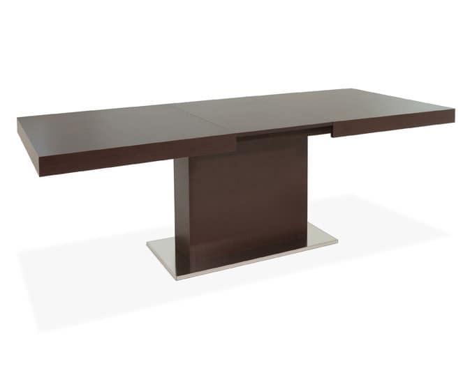 Tavolo allungabile in legno per sala da pranzo idfdesign for Tavoli da soggiorno allungabili