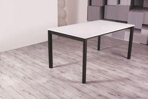 Basic, Tavolo da pranzo allungabile con piano in legno