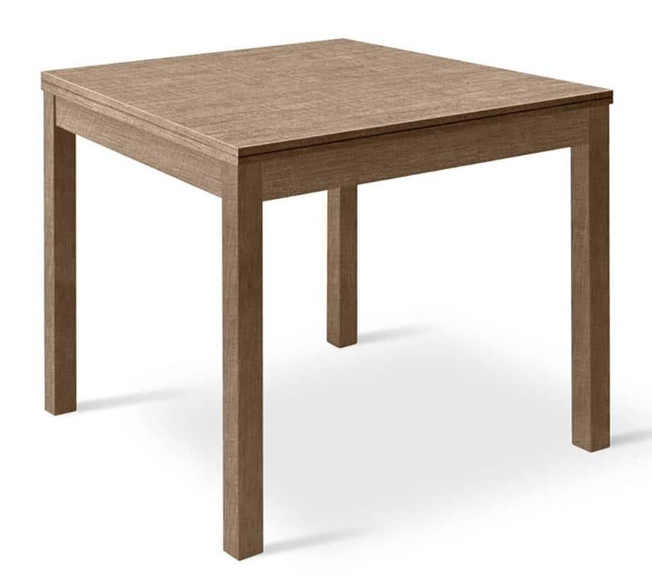 Tavolo quadrato allungabile in legno per salotti idfdesign for Tavolo legno quadrato