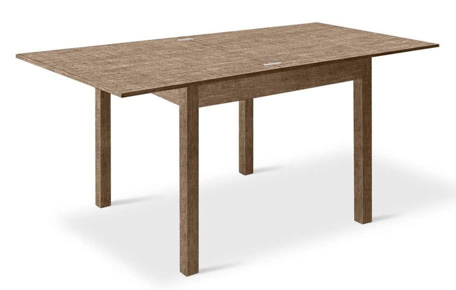 Tavolo quadrato allungabile in legno per salotti idfdesign - Tavolo quadrato 80x80 allungabile ...