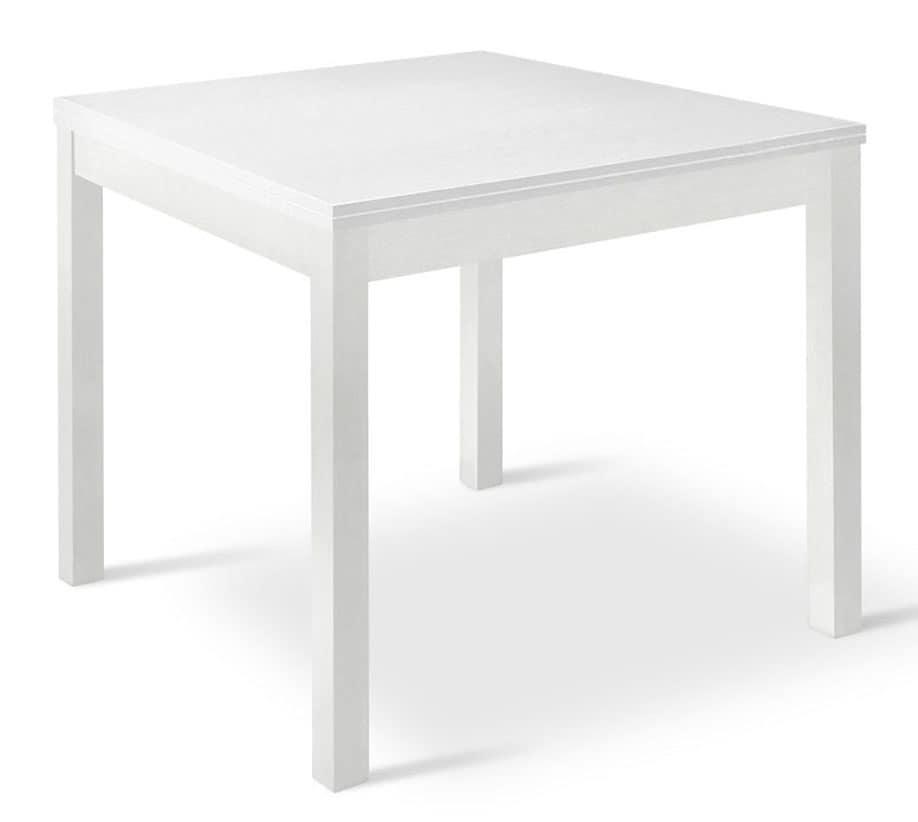 Tavolo quadrato allungabile in legno, per salotti  IDFdesign
