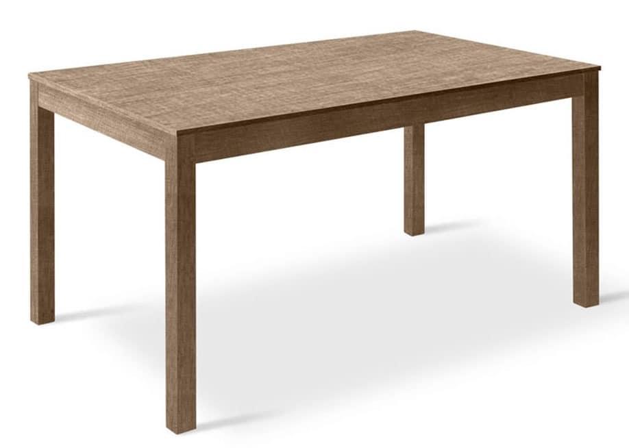 Tavolo allungabile in faggio e melaminico, per ristoranti | IDFdesign