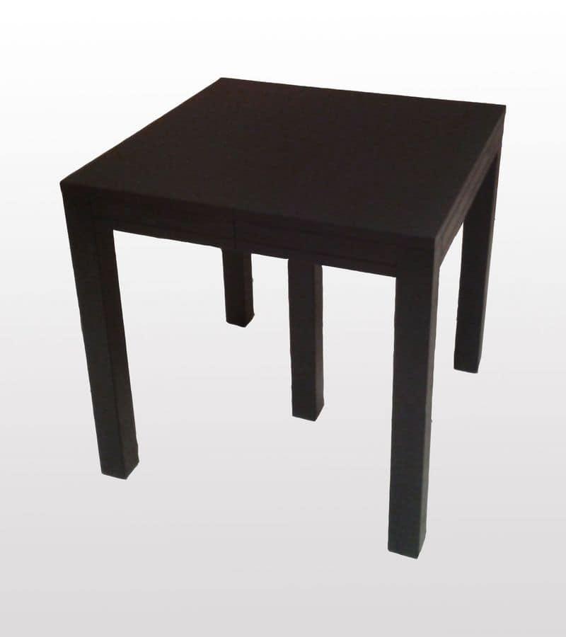 Tavolo quadrato allungabile, finitura wengè | IDFdesign
