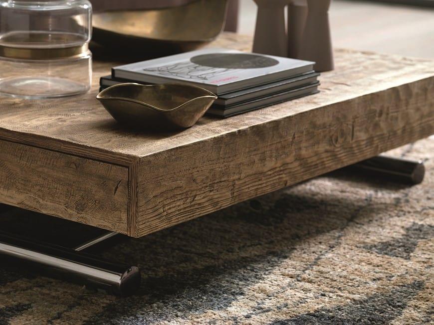 Compact, Tavolino regolabile in altezza con meccanismo a gas
