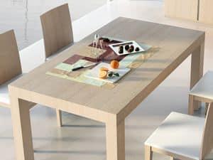 Complementi Tavolo 05, Tavolo allungabile in legno, per uso contract