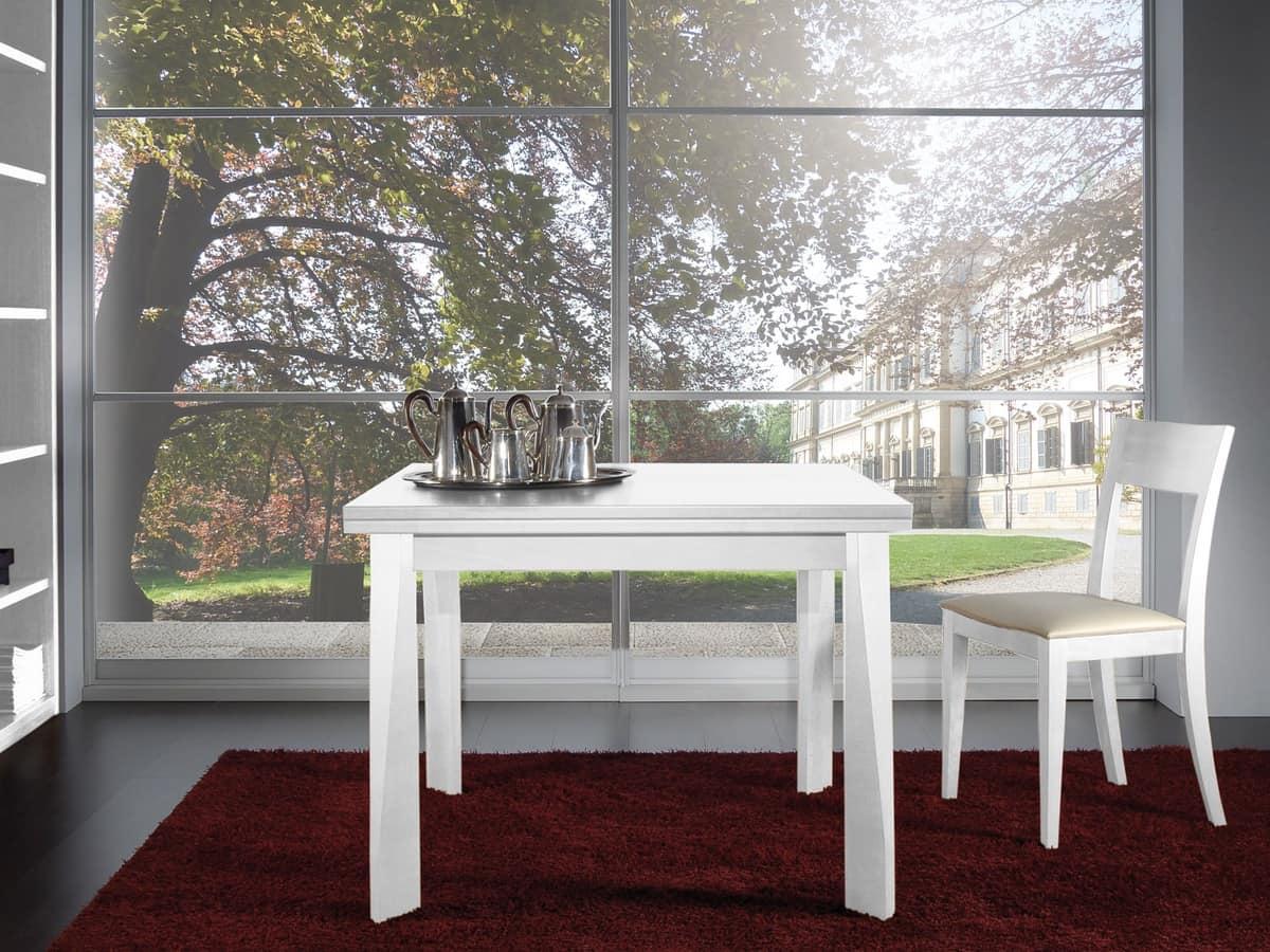 Tavolo estendibile in legno per ristoranti idfdesign for Tavoli rettangolari allungabili in legno