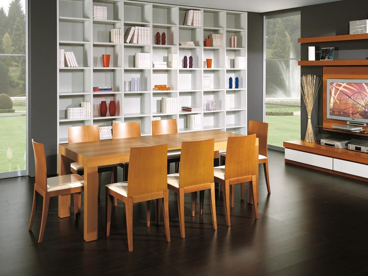 Tavolo allungabile in legno per salotti e sale da pranzo - Tavoli pranzo allungabili design ...
