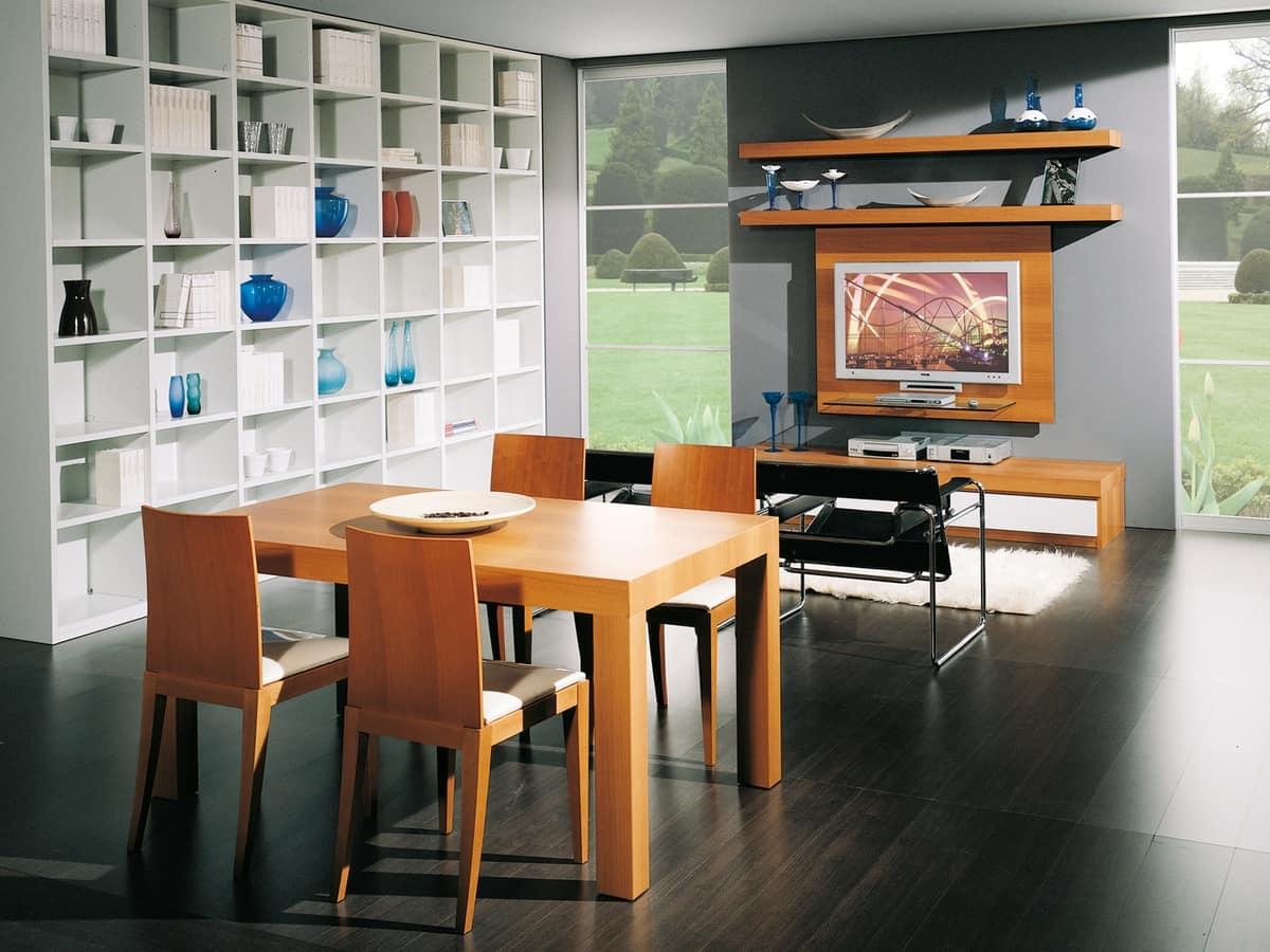 Tavolo estendibile in legno per ristoranti idfdesign for Salotti e sale da pranzo