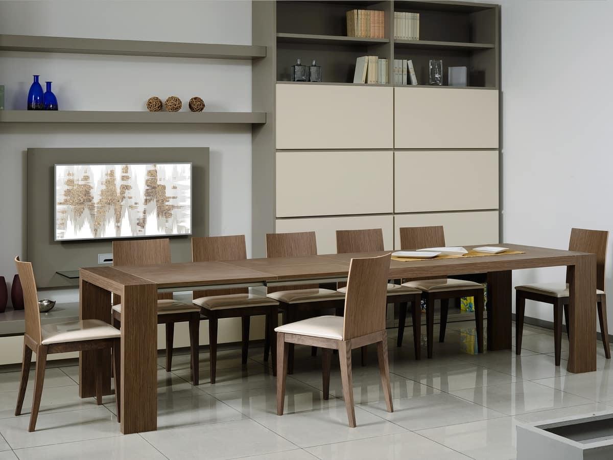 tavolo allungabile rettangolare per sala da pranzo