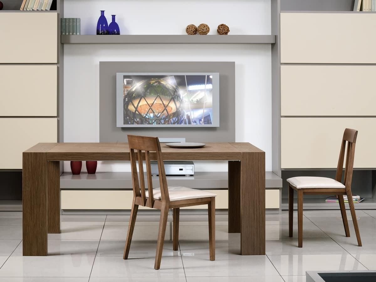 Tavolo allungabile rettangolare, per sala da pranzo | IDFdesign