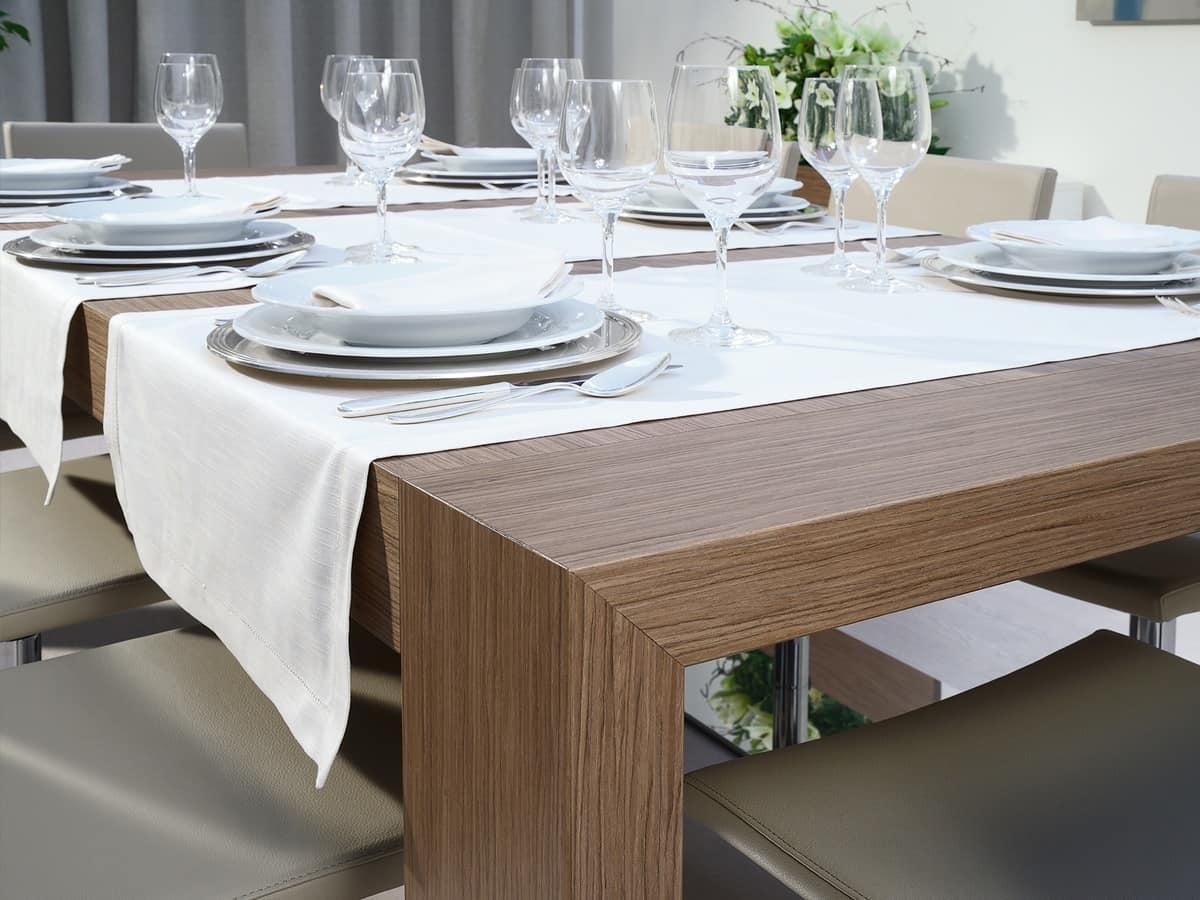 Tavolo allungabile rettangolare per sala da pranzo for Tavoli allungabili moderni