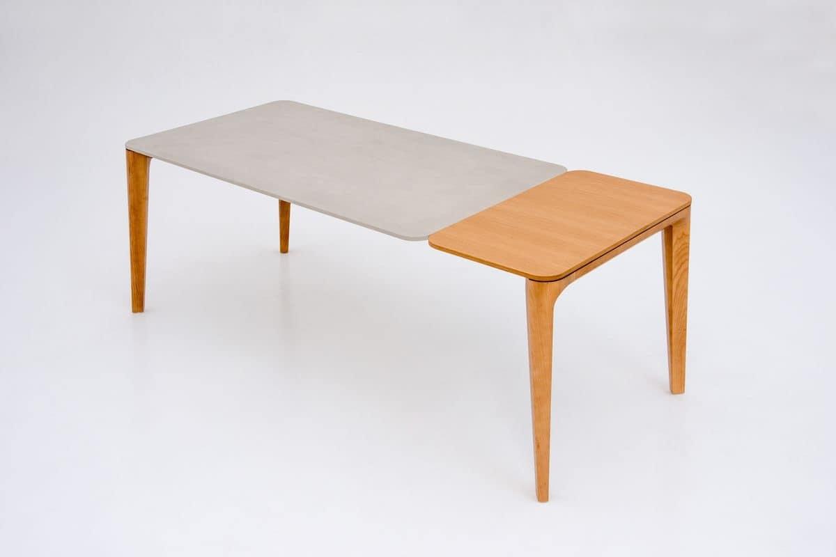 Tavolo allungabile in legno per sala da pranzo idfdesign for Tavoli contemporaneo design