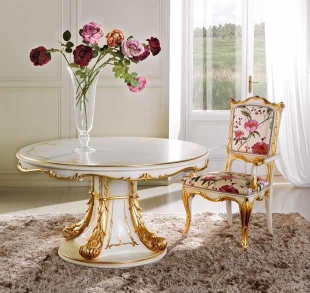 Delizia tavolo tondo, Lussuoso tavolo tondo allungabile