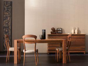 Elettra Art. EL136, Tavolo allungabile in legno