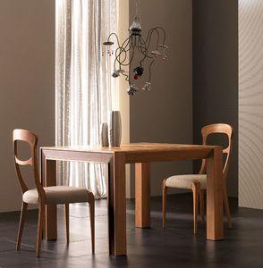 Elettra Art. EL138, Tavolo allungabile in legno di noce